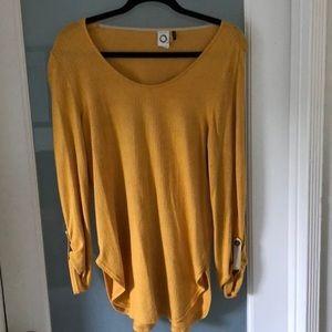 Anthropologie Akemi + Kin yellow shirt